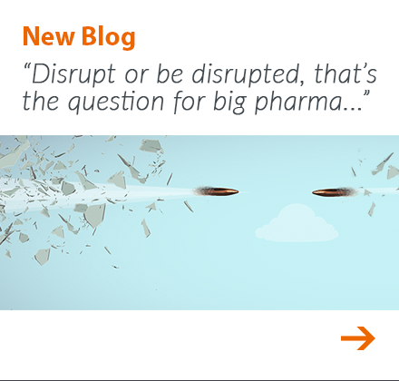 September blog: Disrupt or be disrupted, that's the question for big pharma